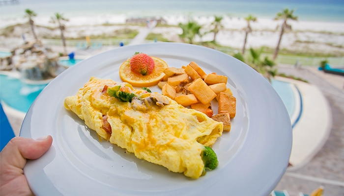 pensacola beach hotel package HIRPB Riptides Breakfast