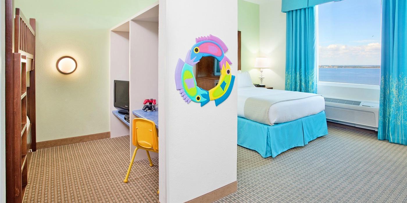 Kids Bedroom Suite Inland Kids Suite Hotel Rooms Holiday Inn Resort Pensacola Beach